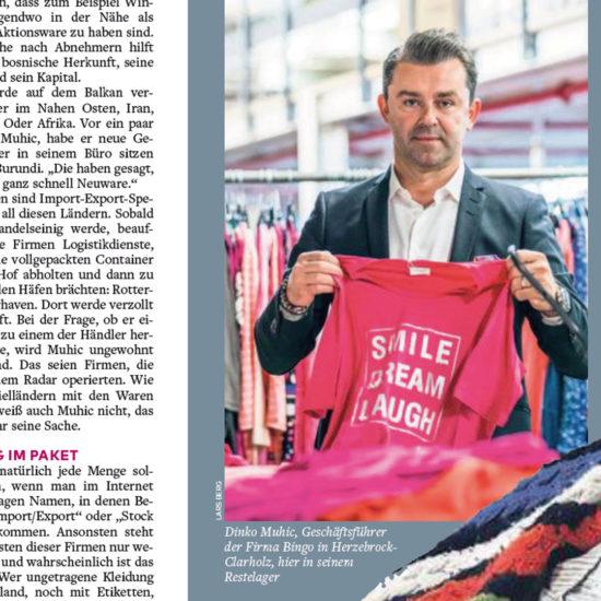 """Ein Artikel der Welt am Sonntag mit dem Titel """"Der Kleider-Wahnsinn"""" vom 10.11.2019."""