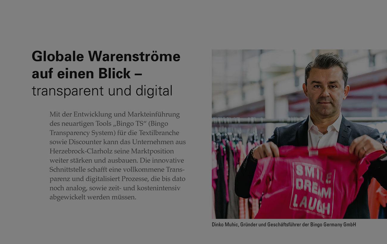 """""""Globale Warenströme auf einen Blick – transparent und digital"""" - TextilWirtschaft (20.12.2020)"""